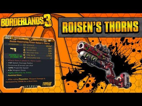 Borderlands 3   Roisen's Thorns Legendary Weapon Guide (Flowering Shots!)