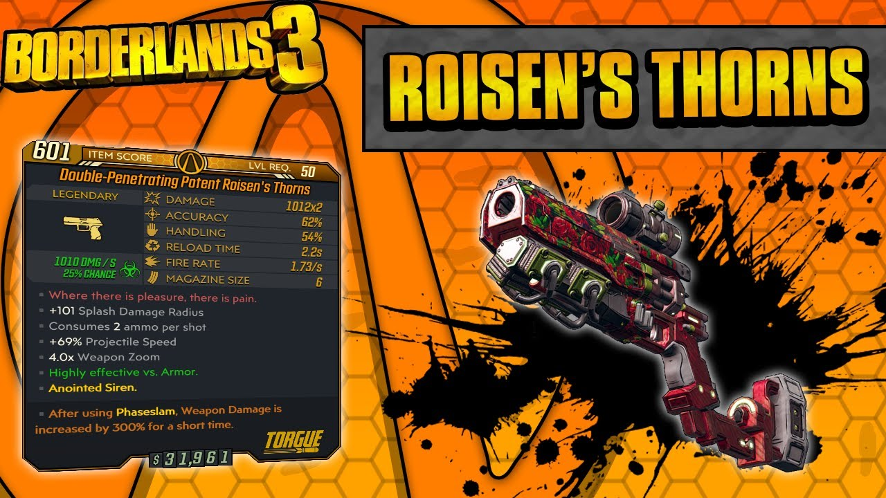 Borderlands 3 | Roisen's Thorns Legendary Weapon Guide (Flowering Shots!) thumbnail