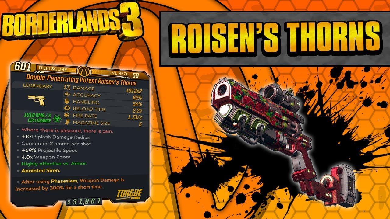 Borderlands 3 | Roisen's Thorns Legendary Weapon Guide (Flowering Shots!) thumbnail