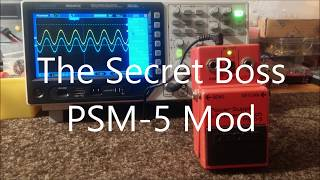 The Secret Boss PSM 5 Master Switch Mod. Is it usable in todays world? The Boss Secret Mod Series P6
