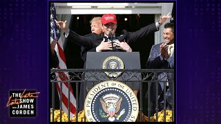 Download Trump Gets Hands-y with the World Series Champs Mp3 and Videos