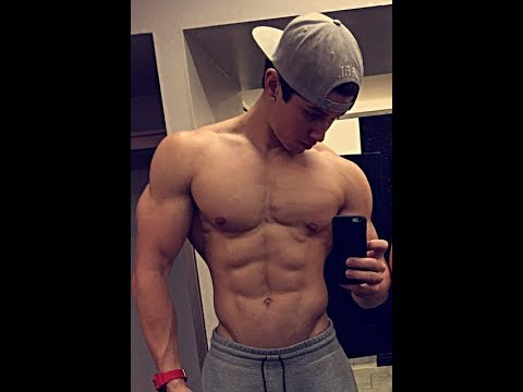 Brandon Larracuente of 13 Reasons Why working Out