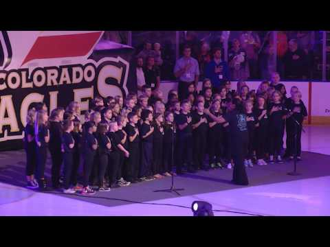 Olander Elementary School Choir Sings the Star Spangled Banner