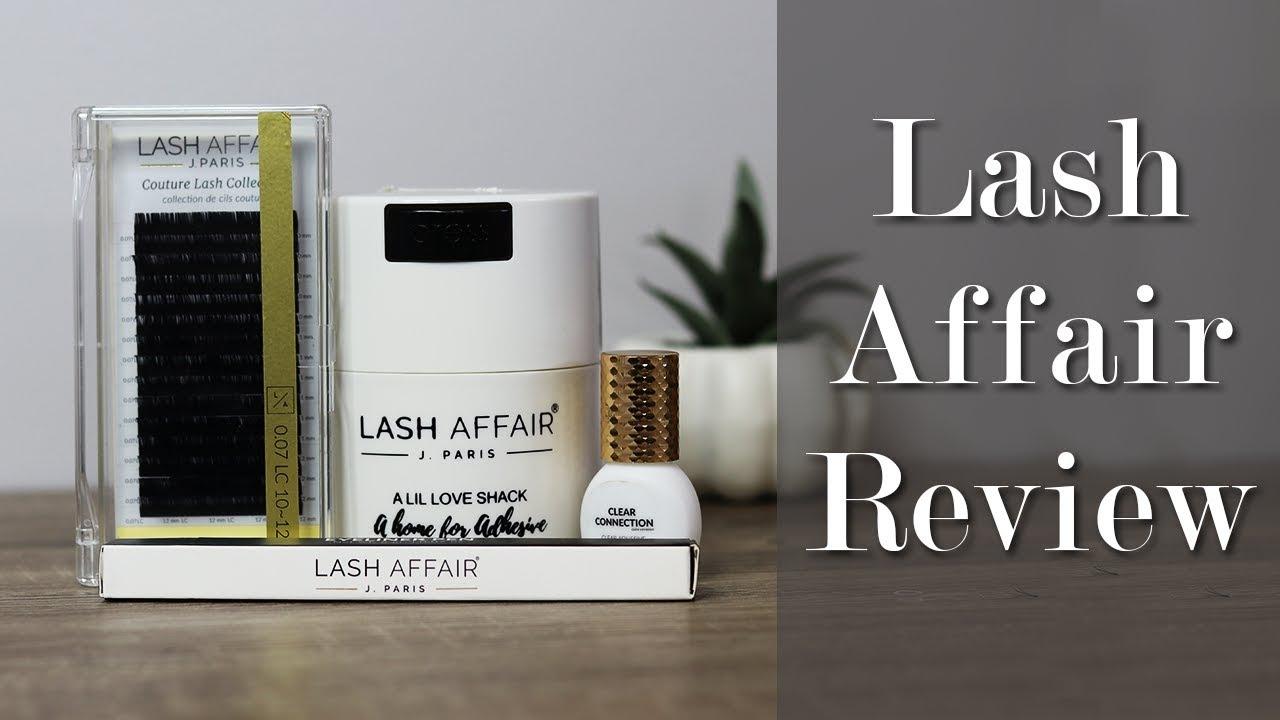 Lash Affair Eyelash Extension Product Review - YouTube
