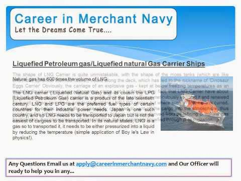 how to join liquefied petroleum gas/liquefied natural gas carrier ship in merchant navy