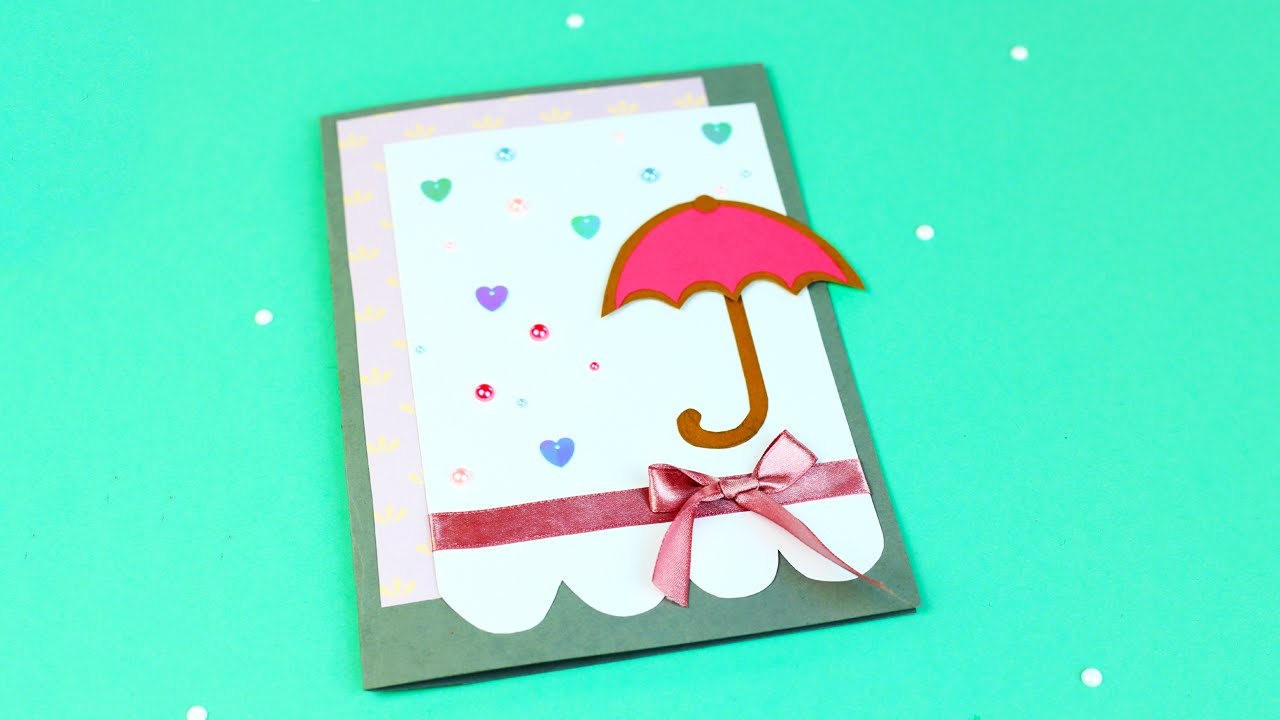 How To Make A Baby Shower Card Youtube