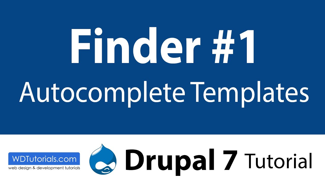 Drupal 7 - Finder Autocomplete Templates