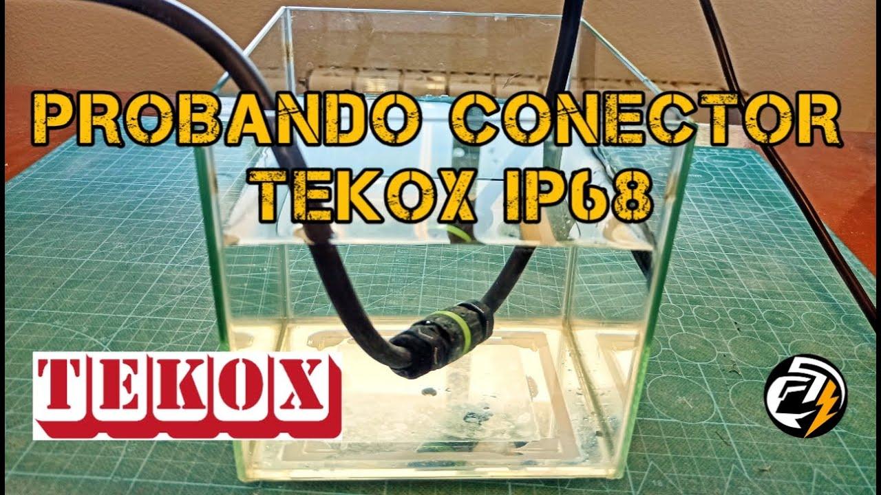 Probando conector TEKOX IP68