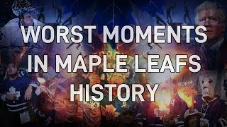 TOP 10 WORST MOMENTS IN TORONTO MAPLE LEAFS HISTORY | NHL | ARCADE REGIMENT