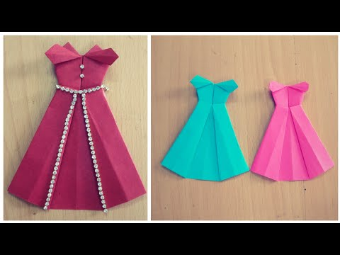 How To Make Paper Dress | Origami Disney Princess Dress | DIY | Paper Craft