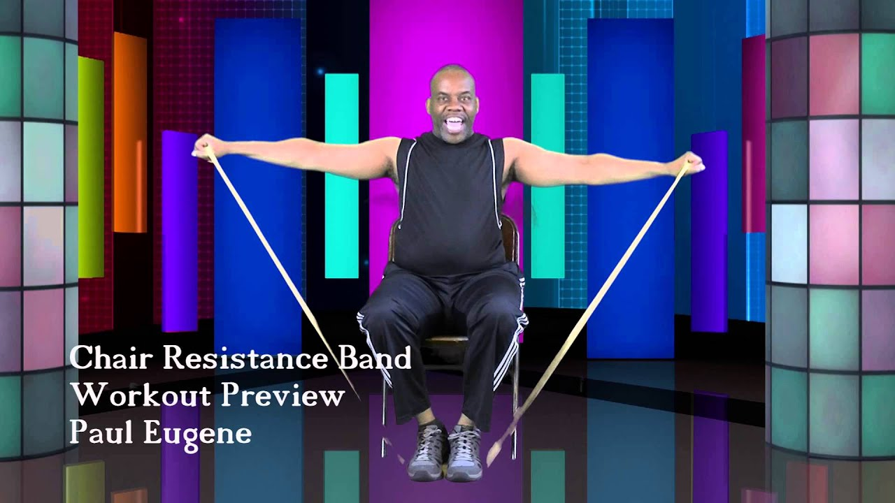 YouTube Premium  sc 1 st  YouTube & Chair Resistance Band Workout - YouTube