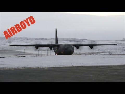 Royal Danish C-130 Drops Ice Buoys Over Arctic Ocean
