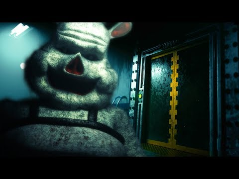 AN ANIMATRONIC IS WAITING FOR US AT THE BOTTOM OF THE ELEVATOR?! || FNAF Porkchop's Adventure ENDING