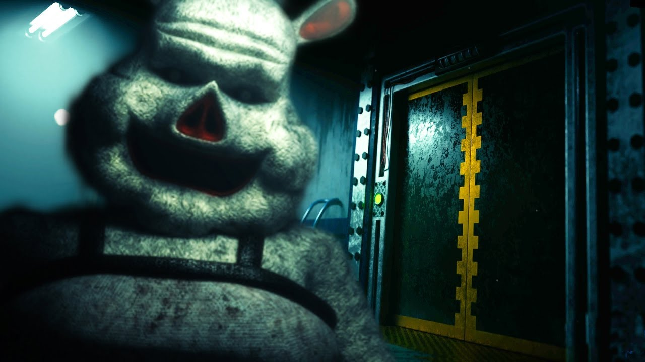 an-animatronic-is-waiting-for-us-at-the-bottom-of-the-elevator-fnaf-porkchop-s-adventure-ending