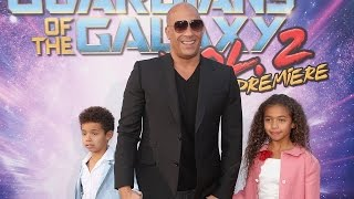 EXCLUSIVE: Vin Diesel Brings His Adorable Kids to 'GOTG Vol.2' Premiere Teases Groot Spin Off