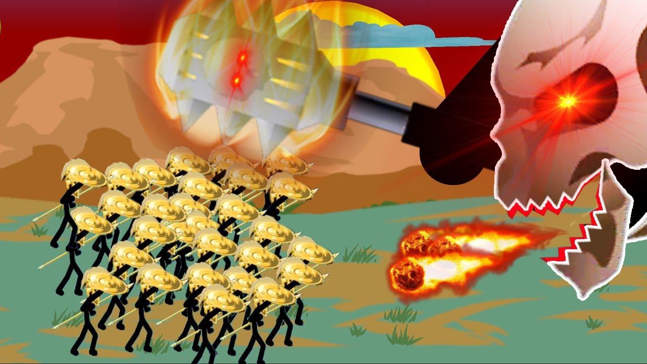 Download Stick War Legacy Huge Update - Army 99999 Spearton Golden Vs Final Boss