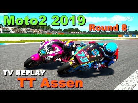 Moto2 TT ASSEN 2019 | Championship #8 | TV REPLAY | MotoGP 19 PC GAME