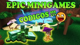 EPIC MINIGAMES CODES IN ENGLISH ★ ROBLOX