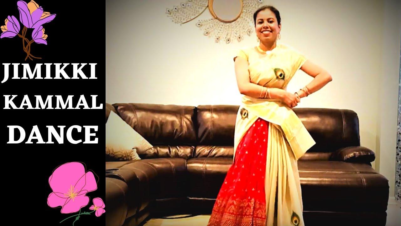 JIMIKKI KAMMAL Dance! Dancing in a Saree Half-Saree :)