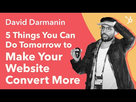 """INBOUND 2016: David Darmanin """"5 Things You Can Do Tomorrow to Make your Website Convert More"""""""