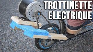 Trottinette électrique : Incroyables Expériences [86] Fabriquer une trot électrique / DIY e-scooter
