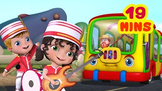 The Wheels On The Bus - Parade Band Theme and More | Rhymes Collection for Kids | Infobells