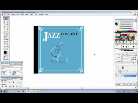 HOW TO CREATE A CD COVER IN ADOBE ILLUSTRATOR BASIC - YouTube