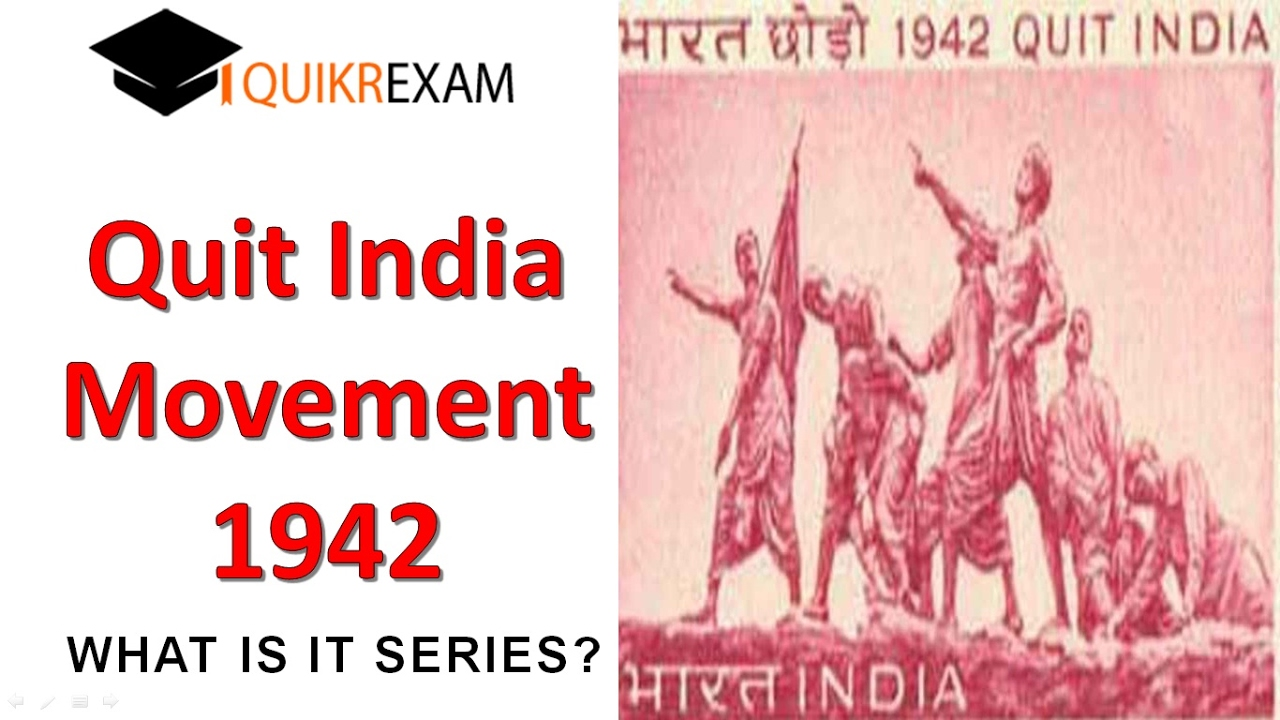 Buy an essay quit india movement