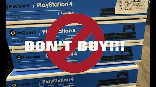 I Bought A Pre Owned Ps4 From Gamestop And This Happened!! Don't Buy!!