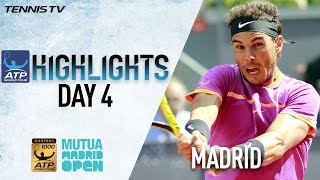 Highlights: Nadal Djokovic Fight Through Wednesday In Madrid 2017