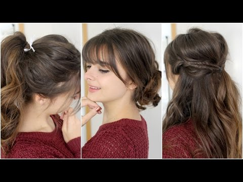Cute, Easy Hairstyles With Bangs | Tutorial