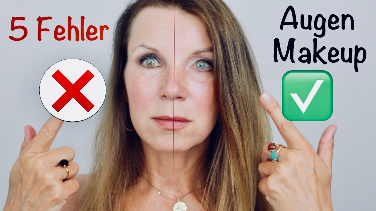 SCHMINKFEHLER vermeiden beim Augen-Make-up Ü 40, Ü 50 * Augen größer schminken natürlich Kirsty Coco
