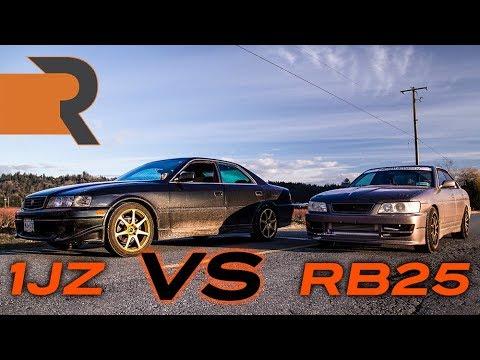1JZ Toyota Chaser Takes On An RB25 Nissan Laurel | Drift Sedan Battle!