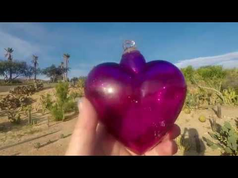 REAL MAGICAL PURPLE HEART FOUND IN CACTUS LAND...SO COOL