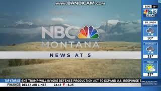 KECI/KCFW/KTVM/KDBZ-CD: NBC MONTANA NEWS AT 5PM OPEN (3-18-2020)