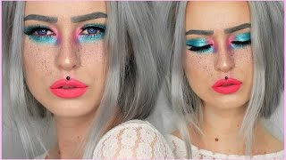 Neon Color Splash Makeup Fun | Evelina Forsell