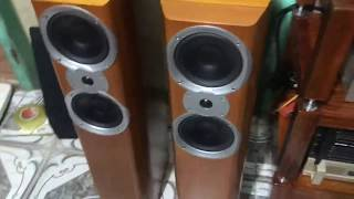 Speakers MISSION Model : V63 ****** Enclosure Type 2-way Reflex Frequency Response 3db 44Hz to 20kHz Sensitivity SPL/m/2.83V 89dB Cross-Over ...