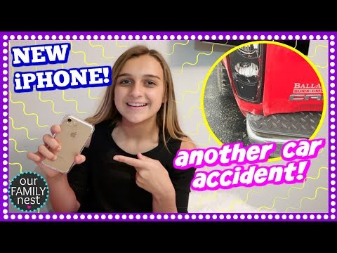 FINALLY A NEW IPHONE & ANOTHER CAR ACCIDENT!!