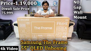 Samsung The Frame 55 inch QLED TV Unboxing & Overview