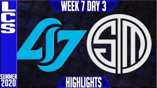 CLG vs TSM Highlights | LCS Summer 2020 W7D3 | Counter Logic Gaminmg vs Team Solomid