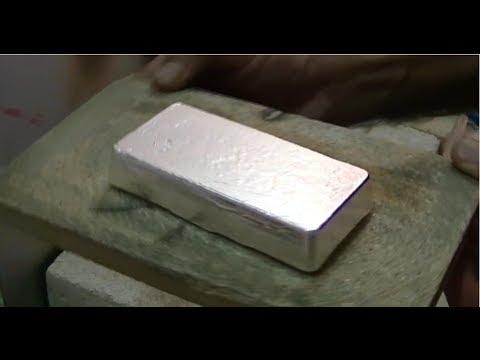 Melting Silver 32 15 Toz 1 Kg 999 Bullion Bar Youtube