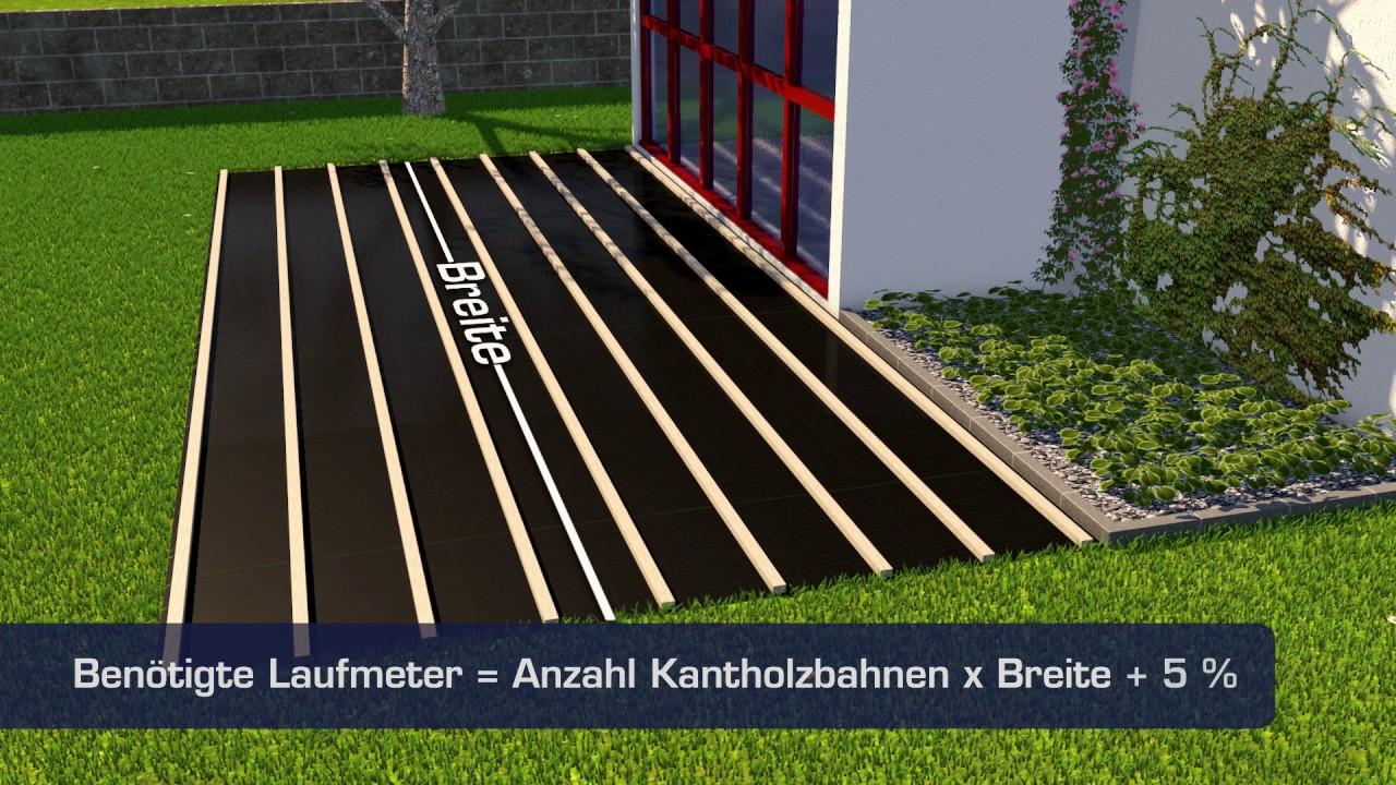 Geliebte So einfach geht's: Terrassendielen verlegen - YouTube @KG_65