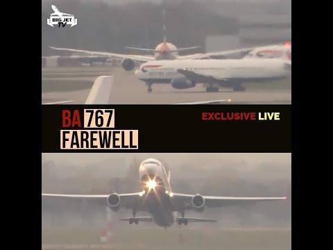 British Airways B767 Farewell LIVE! #BAretireB767 #Heathrow #BAW767B G-BZHB