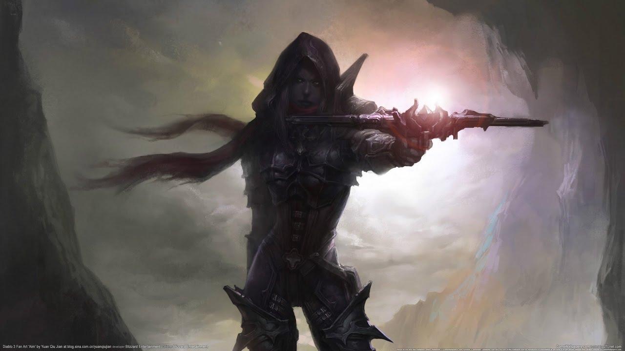 Wallpaper 3440x1440 Girl Diablo 3 Demon Hunter Pilhador Fenda Maior 80 Youtube