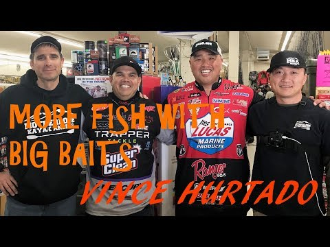 HOW TO CATCH MORE FISH WITH BIG BAITS: Vince Hurtado Seminar @ Fisherman's Warehouse Manteca