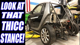 Hayabusa Swap SmartCar?! Nope, BETTER! SmartKar Burnout Build EP.2 Smarty THICC