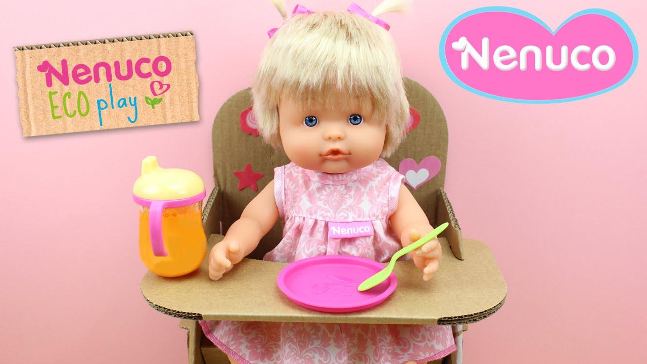 en stock auténtica venta caliente colores y llamativos La Bebé NENUCO come su papilla en su trona Eco Play | Juguetes de Nenuco en  español