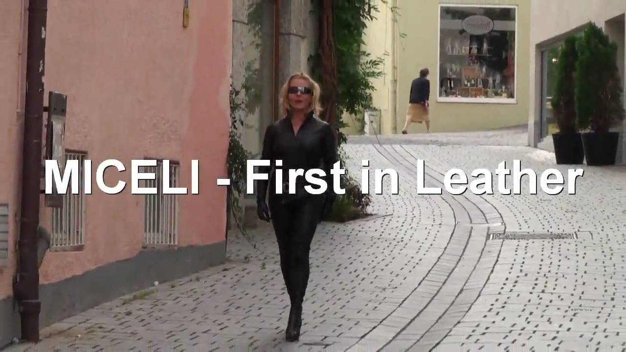 Miceli Stretchlederoverall Stretch Leather Catsuit Miceli First in Leather.mp4