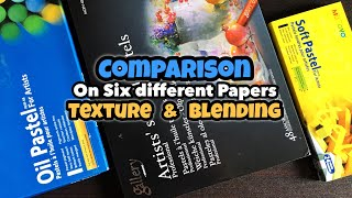 Mungyo Pastels Comparison on Six different Papers | Texture & Blending Review screenshot 5