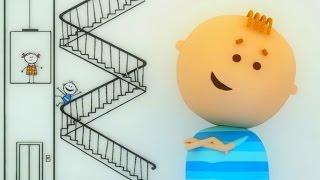 Аркадий Паровозов спешит на помощь - Почему нельзя кататься на перилах- мультфильм детям